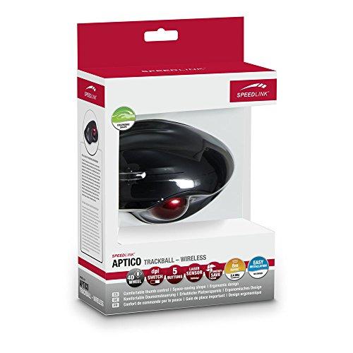 SPEEDLINK Aptico kabellose Trackball Maus (Daumensteuerung, 5-Tasten, 1600 dpi) schwarz - 4